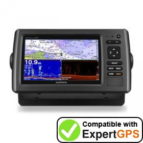 Download your Garmin echoMAP 72dv waypoints and tracklogs and create maps with ExpertGPS