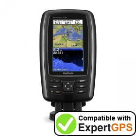 Download your Garmin echoMAP CHIRP 42cv waypoints and tracklogs and create maps with ExpertGPS