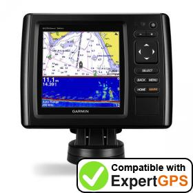 Download your Garmin echoMAP CHIRP 54dv waypoints and tracklogs and create maps with ExpertGPS