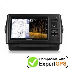 Download your Garmin echoMAP CHIRP 73sv waypoints and tracklogs and create maps with ExpertGPS