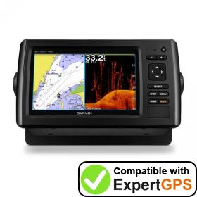 Download your Garmin echoMAP CHIRP 74dv waypoints and tracklogs and create maps with ExpertGPS