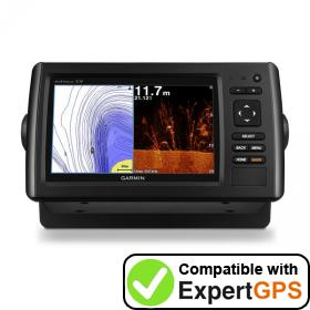 Download your Garmin echoMAP CHIRP 75cv waypoints and tracklogs and create maps with ExpertGPS