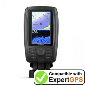 Download your Garmin ECHOMAP Plus 43cv waypoints and tracklogs and create maps with ExpertGPS
