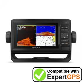 Download your Garmin ECHOMAP Plus 62cv waypoints and tracklogs and create maps with ExpertGPS