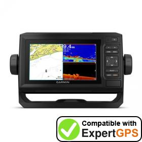 Download your Garmin ECHOMAP Plus 65cv waypoints and tracklogs and create maps with ExpertGPS