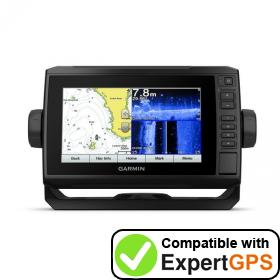 Download your Garmin ECHOMAP Plus 77sv waypoints and tracklogs and create maps with ExpertGPS