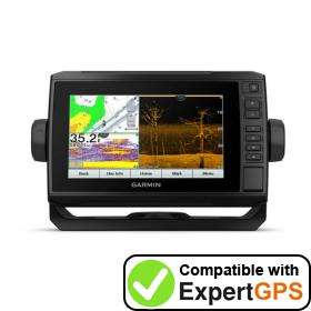 Download your Garmin ECHOMAP UHD 73cv waypoints and tracklogs and create maps with ExpertGPS