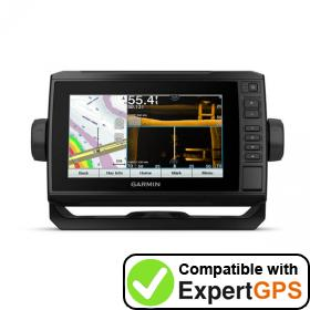Download your Garmin ECHOMAP UHD 73sv waypoints and tracklogs and create maps with ExpertGPS