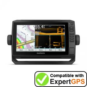 Download your Garmin ECHOMAP UHD 93sv waypoints and tracklogs and create maps with ExpertGPS
