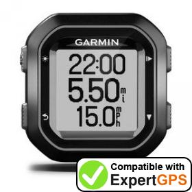 Download your Garmin Edge 20 waypoints and tracklogs and create maps with ExpertGPS