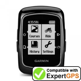Download your Garmin Edge 200 waypoints and tracklogs and create maps with ExpertGPS