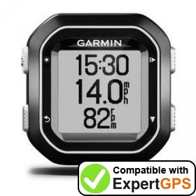 Download your Garmin Edge 25 waypoints and tracklogs and create maps with ExpertGPS