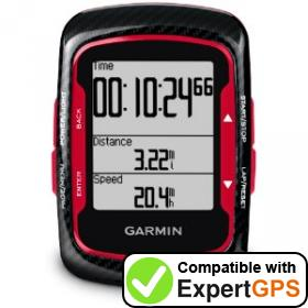 Download your Garmin Edge 500 waypoints and tracklogs and create maps with ExpertGPS