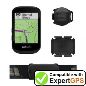 Download your Garmin Edge 530 waypoints and tracklogs and create maps with ExpertGPS
