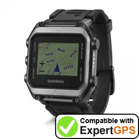 Download your Garmin epix waypoints and tracklogs and create maps with ExpertGPS
