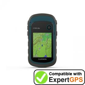 Download your Garmin eTrex 22x waypoints and tracklogs and create maps with ExpertGPS