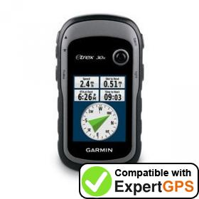 Download your Garmin eTrex 30x waypoints and tracklogs and create maps with ExpertGPS