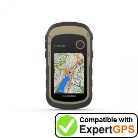 Download your Garmin eTrex 32x waypoints and tracklogs and create maps with ExpertGPS