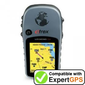 Download your Garmin eTrex Legend Cx waypoints and tracklogs and create maps with ExpertGPS