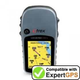 Download your Garmin eTrex Legend HCx waypoints and tracklogs and create maps with ExpertGPS