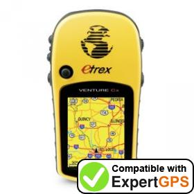 Download your Garmin eTrex Venture Cx waypoints and tracklogs and create maps with ExpertGPS