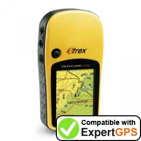 Download your Garmin eTrex Venture HC waypoints and tracklogs and create maps with ExpertGPS
