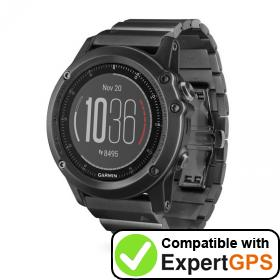 Download your Garmin fēnix 3 HR waypoints and tracklogs and create maps with ExpertGPS