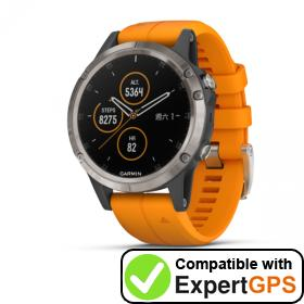 Download your Garmin fēnix 5 Plus waypoints and tracklogs and create maps with ExpertGPS