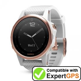 Download your Garmin fēnix 5S waypoints and tracklogs and create maps with ExpertGPS