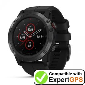 Download your Garmin fēnix 5X Plus waypoints and tracklogs and create maps with ExpertGPS