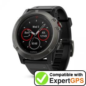 Download your Garmin fēnix 5X waypoints and tracklogs and create maps with ExpertGPS