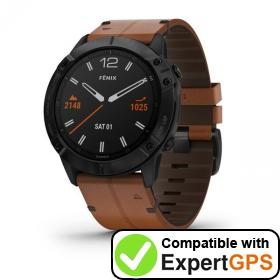 Download your Garmin fēnix 6X waypoints and tracklogs and create maps with ExpertGPS
