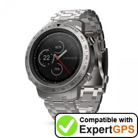 Download your Garmin fēnix Chronos waypoints and tracklogs and create maps with ExpertGPS