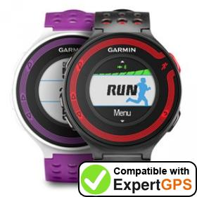 Download your Garmin Forerunner 220 waypoints and tracklogs and create maps with ExpertGPS