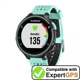 Download your Garmin Forerunner 235 waypoints and tracklogs and create maps with ExpertGPS