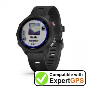 Download your Garmin Forerunner 245 Music waypoints and tracklogs and create maps with ExpertGPS