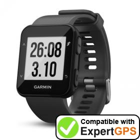 Download your Garmin Forerunner 30 waypoints and tracklogs and create maps with ExpertGPS