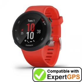 Download your Garmin Forerunner 45 waypoints and tracklogs and create maps with ExpertGPS