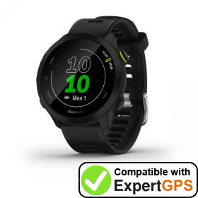 Download your Garmin Forerunner 55 waypoints and tracklogs and create maps with ExpertGPS