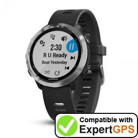 Download your Garmin Forerunner 645 Music waypoints and tracklogs and create maps with ExpertGPS