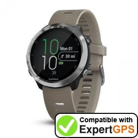 Download your Garmin Forerunner 645 waypoints and tracklogs and create maps with ExpertGPS