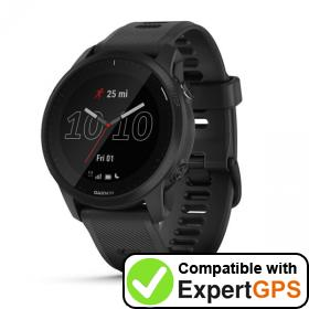 Download your Garmin Forerunner 945 LTE waypoints and tracklogs and create maps with ExpertGPS