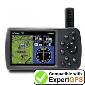 Download your Garmin GPSMAP 396 waypoints and tracklogs and create maps with ExpertGPS