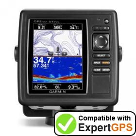Download your Garmin GPSMAP 547xs waypoints and tracklogs and create maps with ExpertGPS