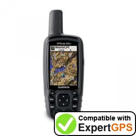 Download your Garmin GPSMAP 62sc waypoints and tracklogs and create maps with ExpertGPS