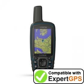 Download your Garmin GPSMAP 64x waypoints and tracklogs and create maps with ExpertGPS