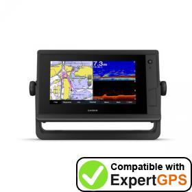 Download your Garmin GPSMAP 722xs Plus waypoints and tracklogs and create maps with ExpertGPS