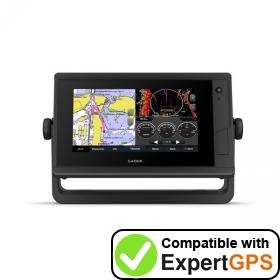 Download your Garmin GPSMAP 742 Plus waypoints and tracklogs and create maps with ExpertGPS