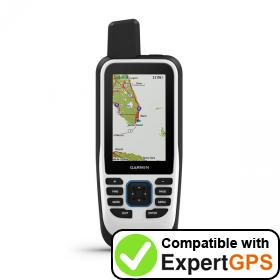 Download your Garmin GPSMAP 86s waypoints and tracklogs and create maps with ExpertGPS