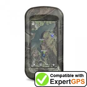 Download your Garmin Montana 600t Camo waypoints and tracklogs and create maps with ExpertGPS